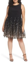 Vince Camuto Plus Size Women's Sequin Fit & Flare Dress