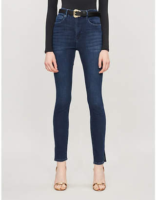 Good American Good Curve tapered high-rise jeans