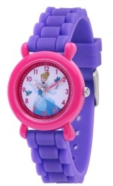 EWatchFactory Disney Princess Cinderella Girls' Pink Plastic Watch 32mm