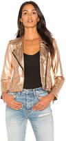 Blank NYC BLANKNYC Metallic Moto Jacket in Metallic Copper. - size L (also in M,S,XS)