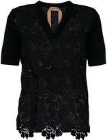 No.21 lace knit short sleeve cardigan - women - Wool - 40