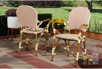 Design Studios Set Of 2 Seva Indoor & Outdoor Bistro Dining Chairs