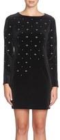 Cynthia Steffe Embellished Velvet Shift Dress