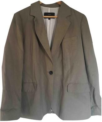 Et Vous Beige Linen Jacket for Women