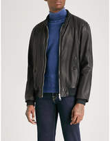 Jacob Cohen Denim-lined Leather Bomber Jacket