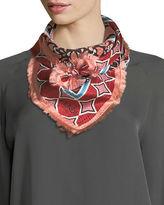 Fendi Tile-Print Square Silk Foulard Scarf