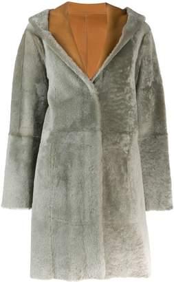 Drome hooded fur trim coat