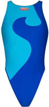Adidas X Lotta Volkova Wave-Print Swimsuit