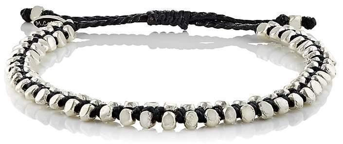 M. Cohen Men's Beaded Waxed Cord Bracelet