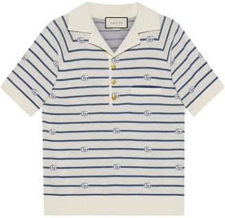 Gucci Double G striped polo shirt