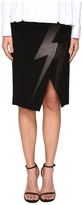 Neil Barrett Thunderbolt Japanese Crepe Women's Skirt