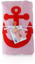 Nikiani Baby Seersucker Towel-Ket -\n Red/Anchor