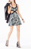 BCBGMAXAZRIA Elyzabeth Cutout Palms Knit Jacquard Dress