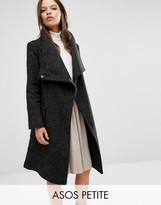 Asos Wool Blend Coat With Funnel Neck