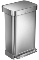 Simplehuman 45L Rectangular Step Can with Bonus 60 Pack Liners