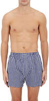 Barneys New York Men's Checked Cotton Poplin Boxers