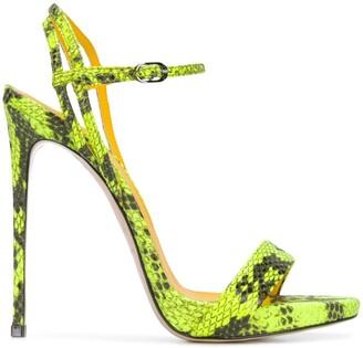 Le Silla Gwen snake-effect sandals
