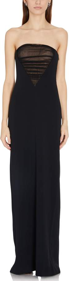 Alexander Wang Bustier Gown with Tulle Front