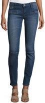 Etienne Marcel Zip-Pocket Low-Rise Skinny Moto Jeans, Blue