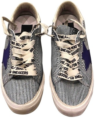 Golden Goose May Blue Glitter Trainers