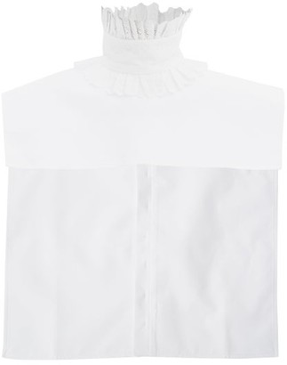 Paco Rabanne Ruffled Broderie-anglaise Cotton Dickey Collar - White