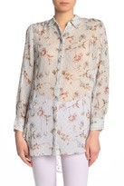 Cynthia Steffe Cece By Duchess Floral Sheer Top