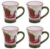 Certified International Winter Garden Sleigh Mugs, Set of 4