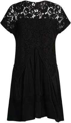 No.21 N21 Pleated Lace Midi Dress