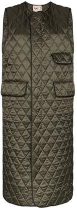 Plan C long quilted gilet