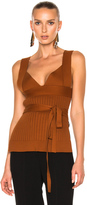Victoria Beckham Irregular Knit Top w/Bra and Bow Detail