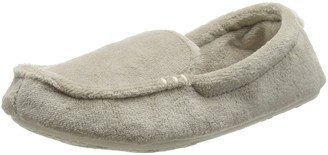 Dearfoams Womens Microfiber Terry Moccasin with Memory Foam Low-Top Slippers