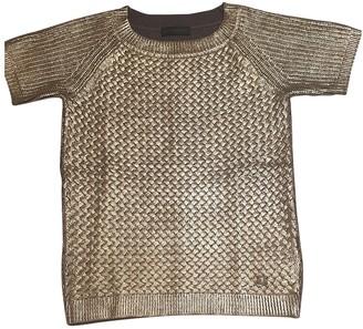 Trussardi Gold Cotton Knitwear for Women