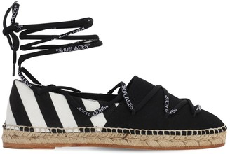 Off-White 20mm Diags Canvas Espadrille Flats