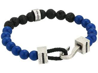 Steve Madden Beaded Bracelet with Hook Closure in Stainless Steel