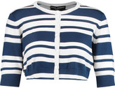 Dolce & Gabbana Cropped striped cashmere and silk-blend cardigan