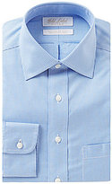 Roundtree & Yorke Gold Label Non-Iron Fitted Classic-Fit Spread-Collar Houndstooth Dress Shirt
