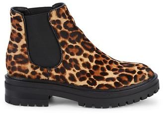 Kenneth Cole New York Ronnie Leopard Calf Hair Chelsea Boots