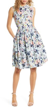 French Connection Armoise Voile Fit & Flare Dress