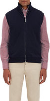 Barneys New York Men's Quilted Cashmere Knit Vest-NAVY
