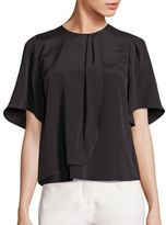 Halston Crepe Draped Top