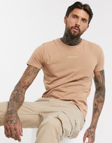 Good For Nothing acid washed t-shirt in stone-Beige