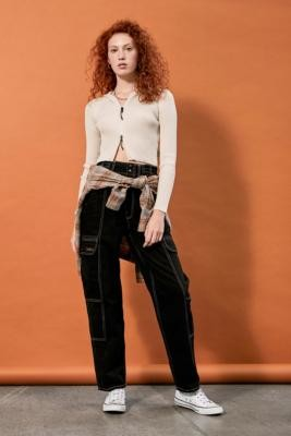 BDG Blaine Black Jeans - Black 24W 30L at Urban Outfitters