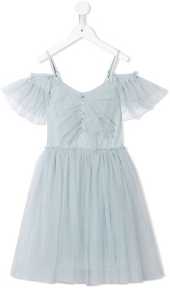 Tutu Du Monde Cold-Shoulder Tulle Dress