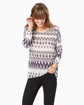 Charming charlie High-Low Aztec Sweater