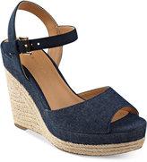 Tommy Hilfiger Kali Platform Espadrille Wedge Sandals Women's Shoes
