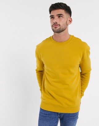 New Look relaxed crew neck sweat in yellow