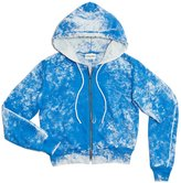 Cotton Citizen Women's Milan Crop Zip Hoodie - Electric Dust