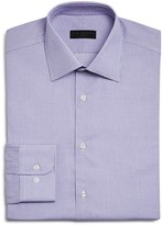 Ike Behar Small Textured Window Check Regular Fit Dress Shirt