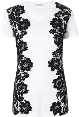 Valentino lace panelled T-shirt