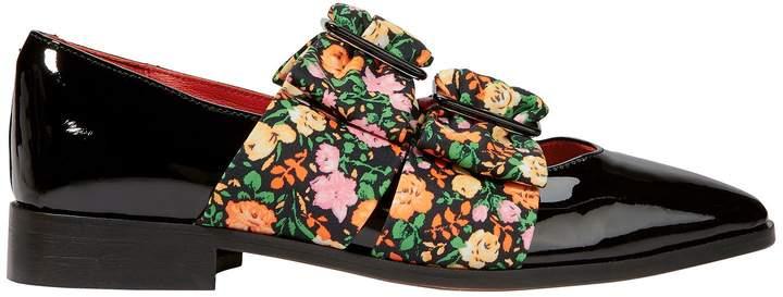 Ganni Maya Floral Flat Loafers